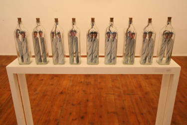 Not Titled Yet - 9 Bottles Mixed Media - 14.2x3.5x2.3 - 2010