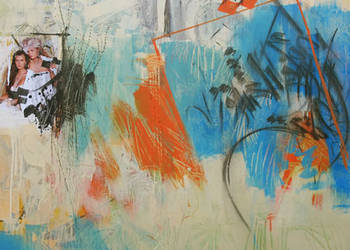 Untitled - Acrylic & Mixed Media on Canvas - 47.2'x47.2' - 2011